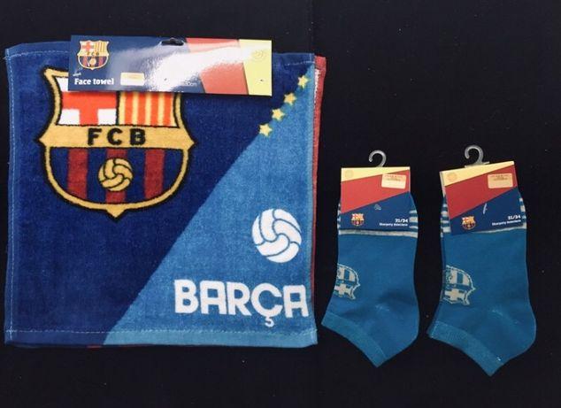 Ręczniki do twarzy 2 szt. skarpetki rozmiar 31-34 FCB FC Barcelona