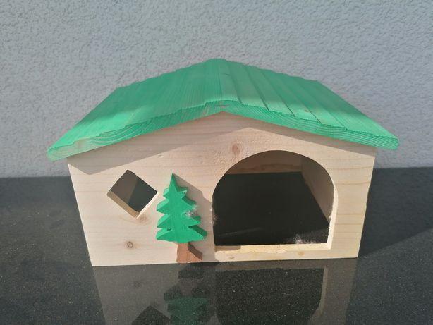 Domek drewniany dla gryzoni