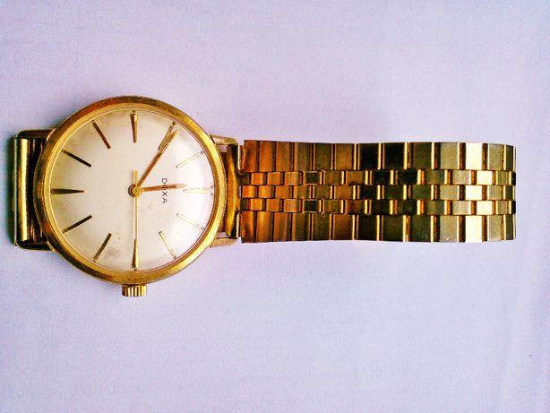 Zegarek męski naręczny złocony Doxa antywstrzasowa Szwajcar sprawne