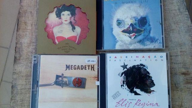 Lote de 5 CDs novos - vários géneros musicais