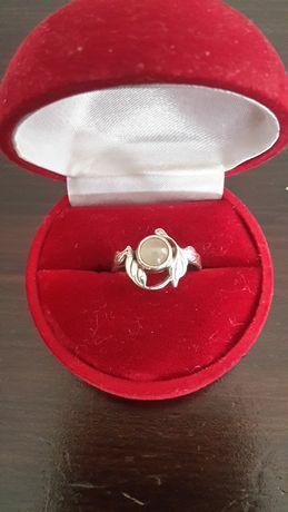 Srebrny pierścionek z agatem-Warmet