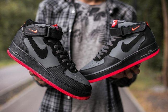 Nike Air Force Black Red 1546-01
