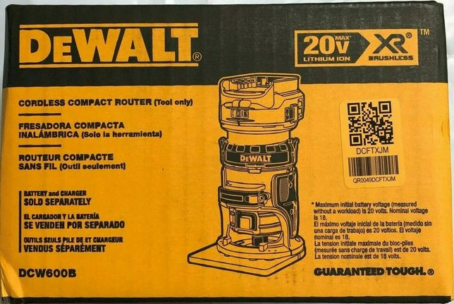 Фрезер DeWalt DCW600 аккумуляторный бесщеточный