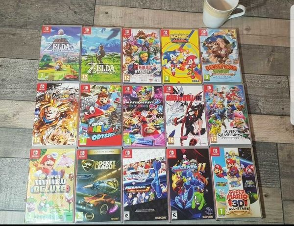 15 gier oryginalnych Nintendo switch tanio polecam !