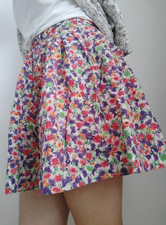 Spódnica bershka w kwiaty mini M