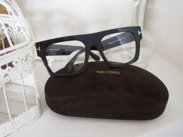 Tom Ford piękne oprawki zerówki okulary damskie czarne