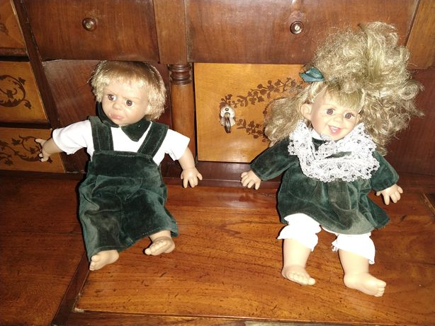 Stare lalki Lalka winylowa z minkami