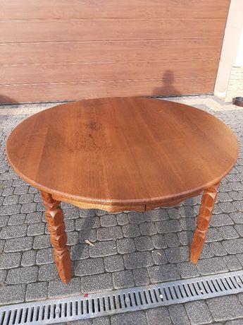 Duński stół z litego drewna, stół loftowy,po renowacji