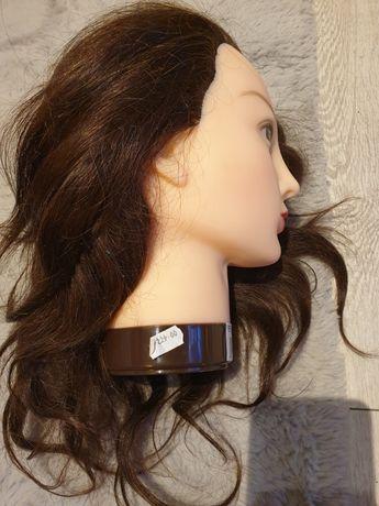 Główka fryzjerska NOWA, naturalne włosy ludzkie