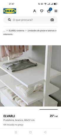 Prateleiras Elvarli, branco IKEA. Novas