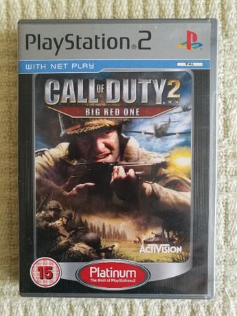 Gry PS2 - CALL OF DUTY 2 - BIG RED ONE - Playstation 2 Super Gra RETRO