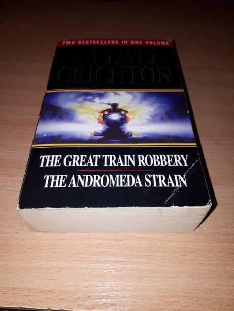 2w1 - M.Crichton - Great Train Robbery + Andromeda Strain - powieści