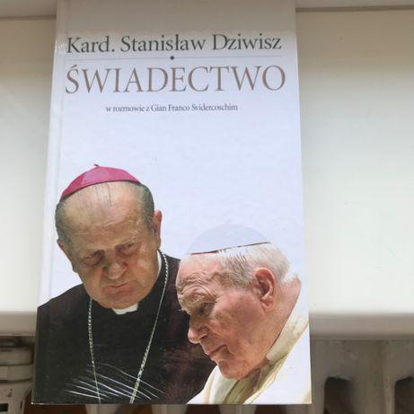 """""""Świadectwo""""-NOWE, w folii, S. Dziwisz o JP II"""