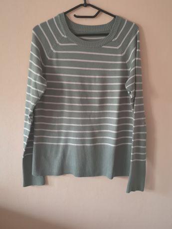 Szaro różowy sweter 38