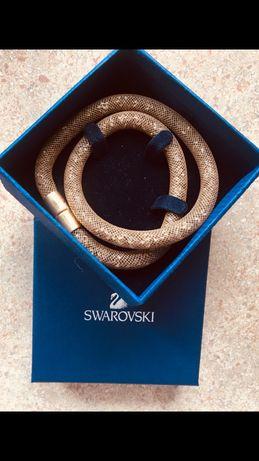 Bransoletka złota Swarovski M 40 cm prezent na świeta