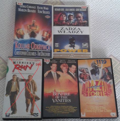 Filmy na VHS - kasety video - polskie wydania, lektor. Tanio!