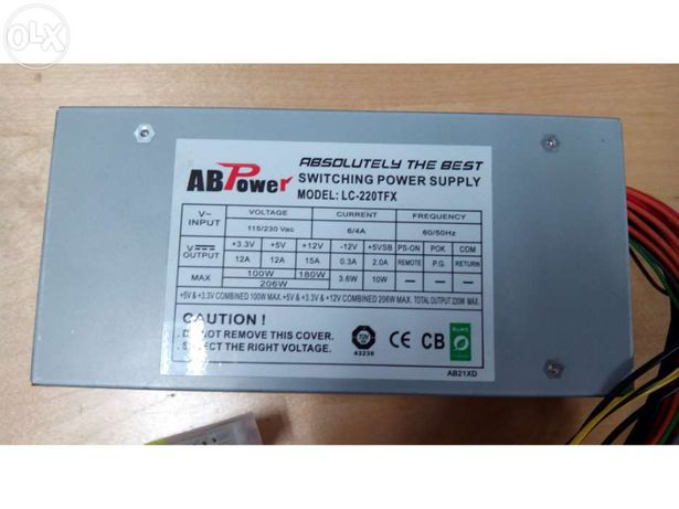 Fonte alimentacao abpower lc-220w tfx