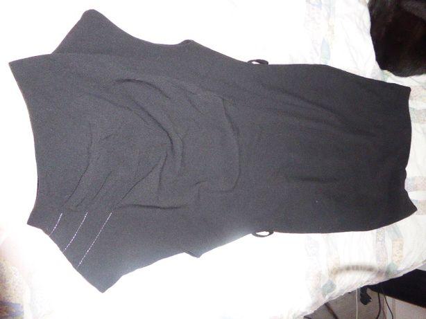 czarna ołówkowa sukienka r. S