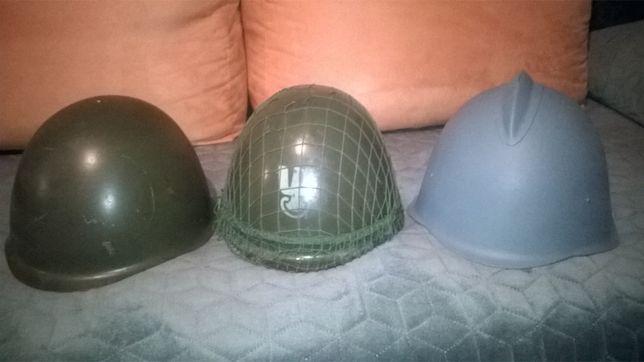 Hełmy wojskowe i strażacki