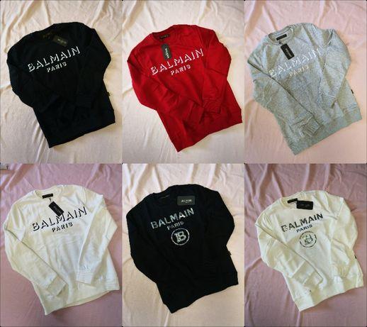 Bluzy męskie Balmain nowość różne kolory premium logowane