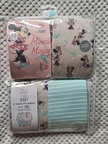 Piżamki,piżamy 2sztuki George Myszka Minnie rozmiary 86-92,92-98