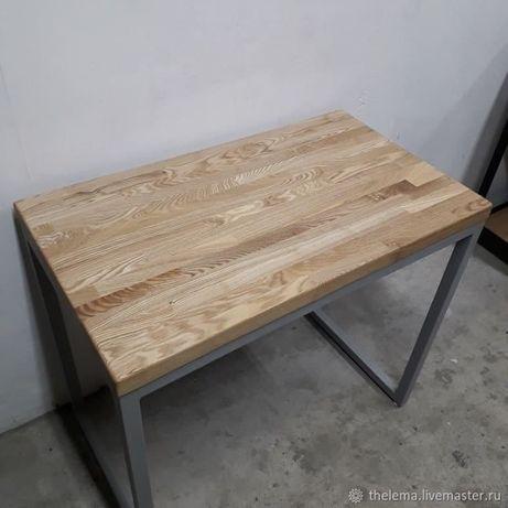 Стол в стиле Loft из Ясеня/столешница под умывальник