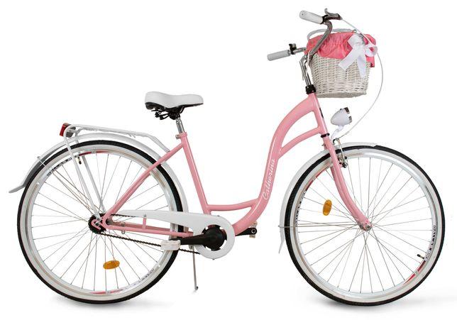 Damski rower miejski ECO damka Catherina różowy 28 PREZENT LEKKI