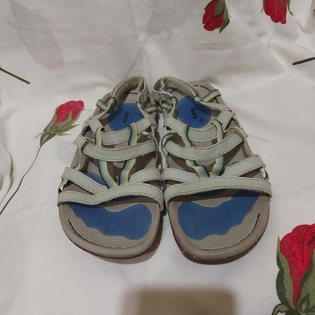 Босоножки сандали hi tec 40p бежевые кожа