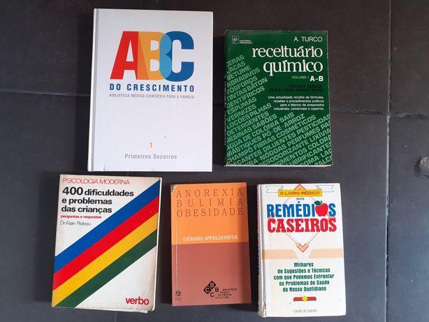 Livros saúde e outros : conj 5 livros