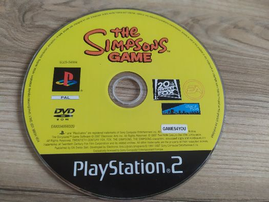 Gra The Simpsons Game PS2, Playstation 2, stan bardzo dobry