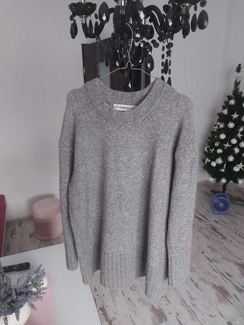 Zara sweter szary