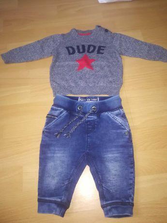 Spodnie next 3 - 6 miesięcy + sweterek early day