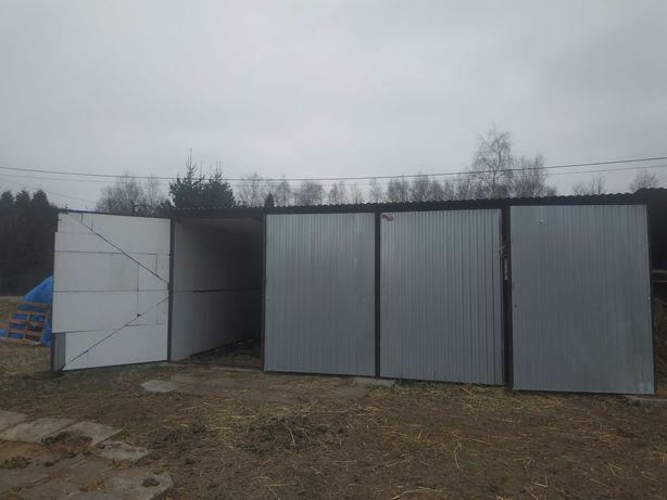Blaszany garaż duży 30 m2