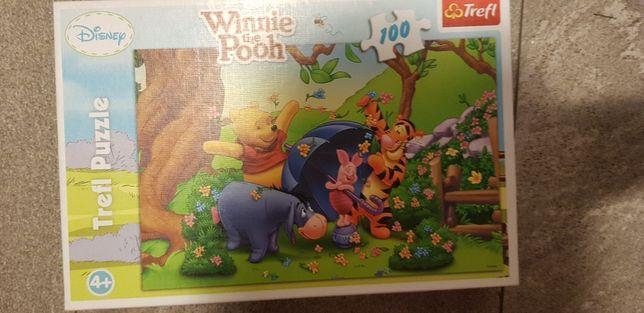 Puzzle puzle Kubuś Puchatek Myszka Miki 4 szt