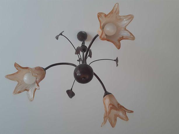 Lampa Sufitowa dwuobwodowa - 3 klosze