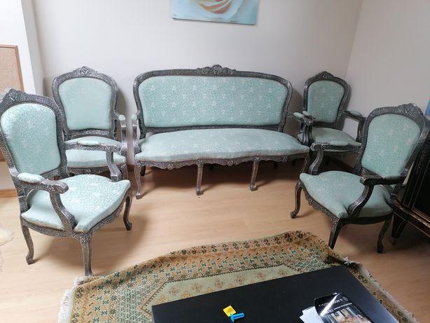 sofa + 4 poltronas