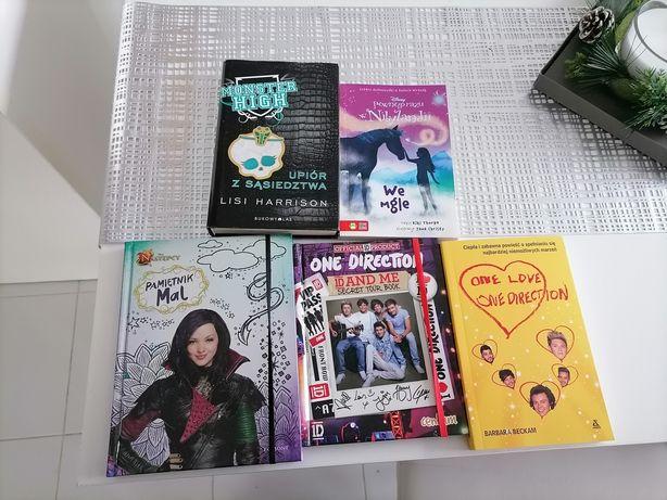 Książki dla dziewczynki monster high Disney one direction pamiętnik