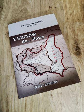 """Książka """"Z Kresów do Sławy"""" z mapą okolic Sławy"""