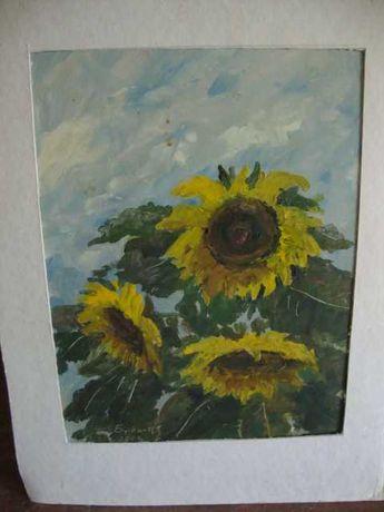 Quadros a óleo motivos Florais