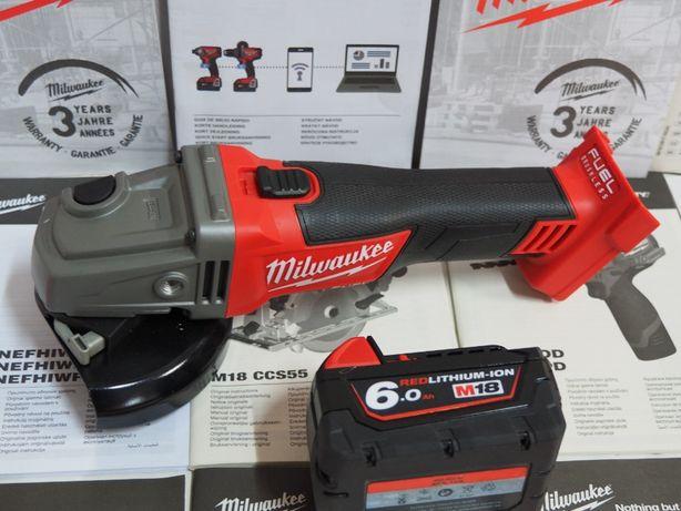 Szlifierka MILWAUKEE M18 CAG 125 +bateria 18v 6ah bez ladowarka bti