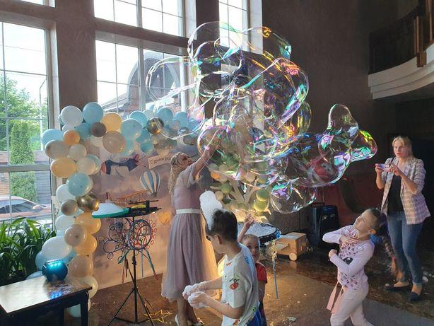 Шоу мыльных пузырей на детское день рождение