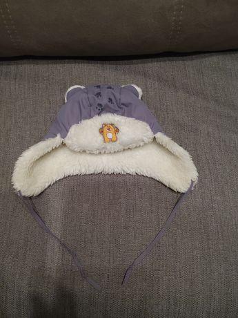 Зимняя шапка ушанка на мальчика 46 см