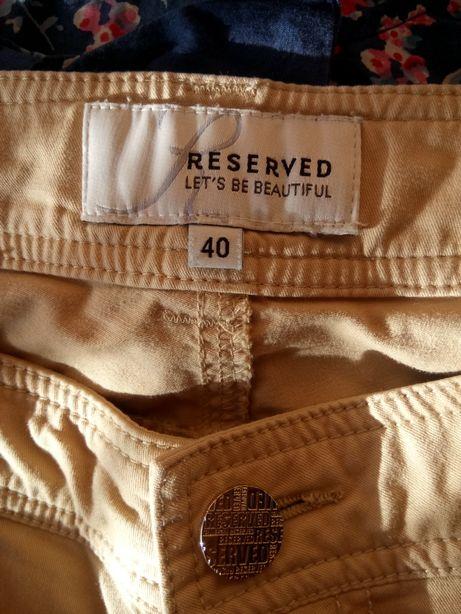Spodnie Reserved r .40 beżowe