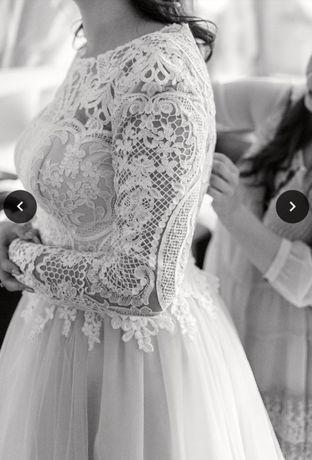 Suknia ślubna Oksana Mukha koronka wesele ślub