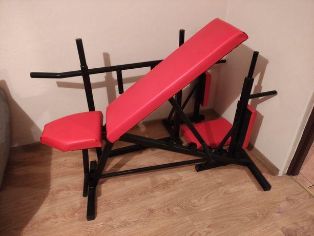 ZESTAW Drążek ławka poręcz sprzęt do ćwiczeń na siłownie