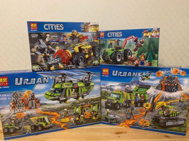 Ассортимент конструктора Cities Urban Горно-Добывающая серия Лего Lego