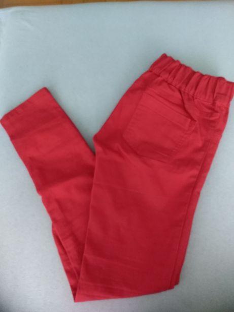 Spodnie czerwone, jeansy nowe 36