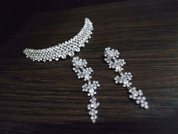 Диадема свадебная,шикарные серьги,набор 400грн