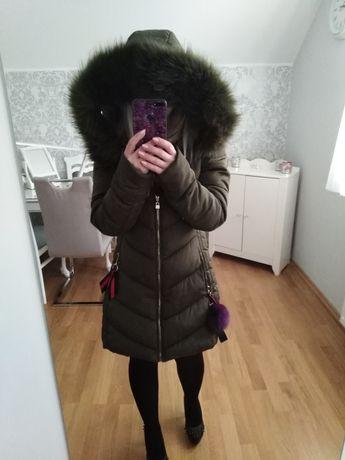 Płaszcz zimowy kurtka S khaki