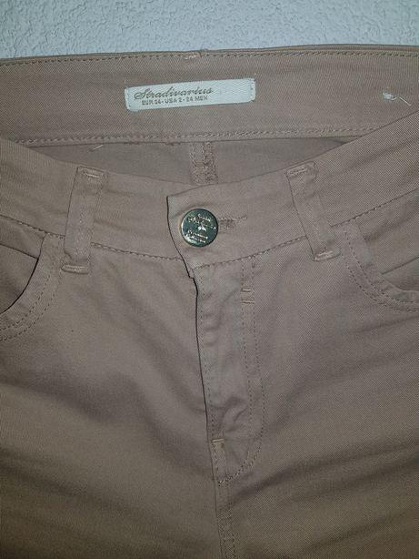 Jeansy dżinsy stradivarius XS. Beżowe. Skinny. Nowe.